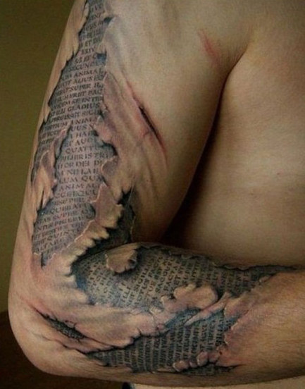 3d tattoo designs on full arm for men