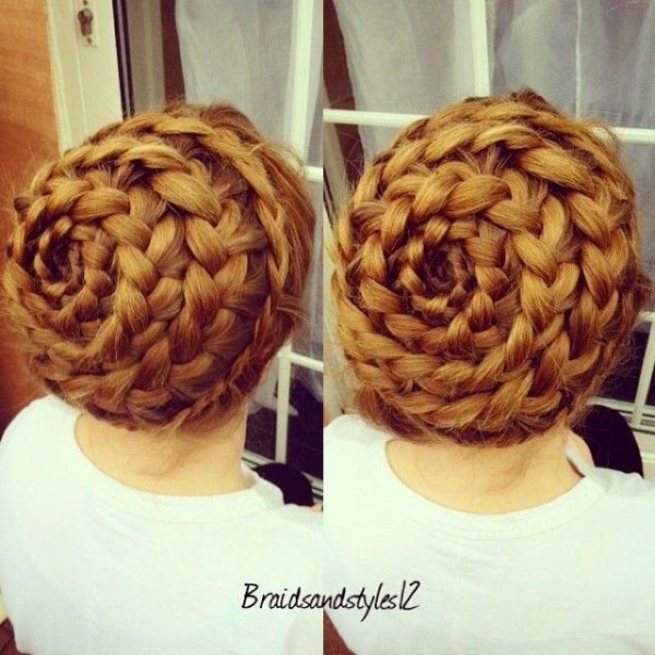 Spiral French Braided Pigtail Crown