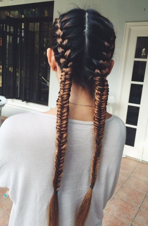 fish tail french braids