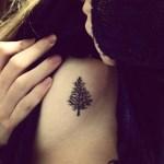 simple small rib cage tattoos
