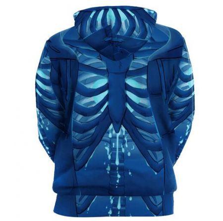 horror 3d halloween skeleton hoodie