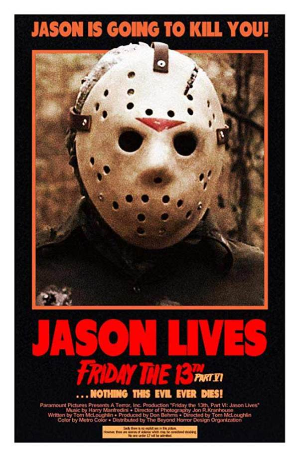 Jason Lives Friday the 13th Part VI 1986