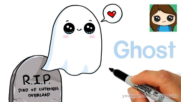how to draw super cute ghost for halloween