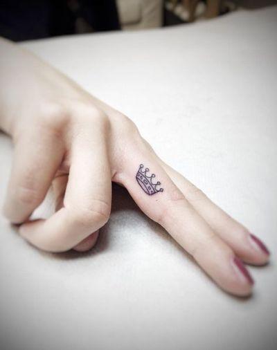 female finger tattoos