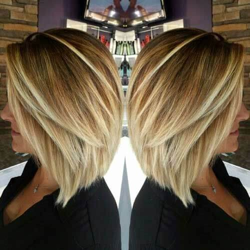 mid length layered bob