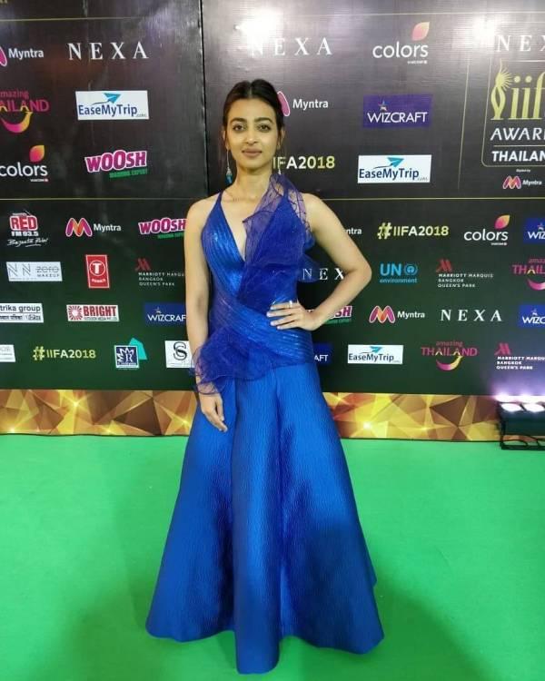 Radhika Apte Blue Dresses