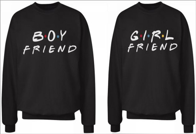 boyfriend girlfriend letters shirts