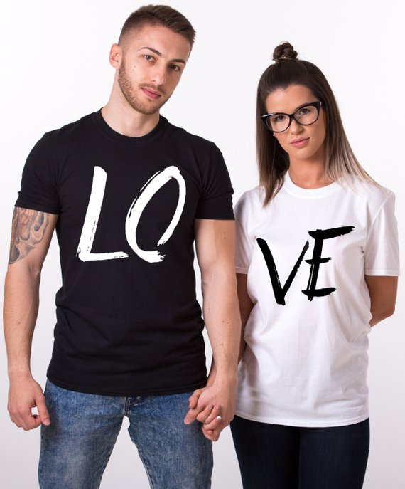 cute love text t-shirts for couples