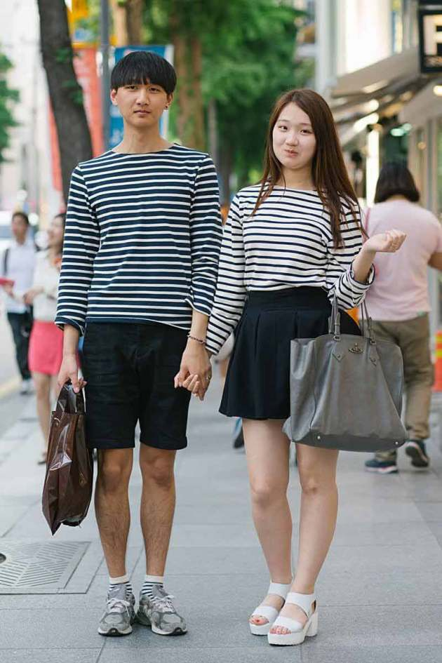 matching Korean couples summer outfits