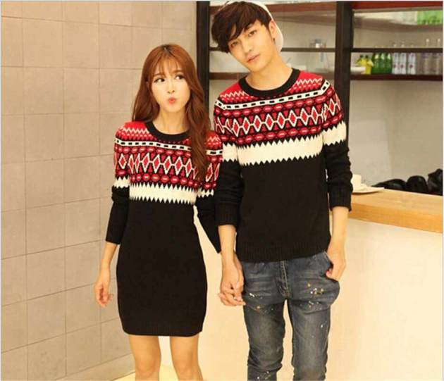 cute matching Christmas outfits for couples