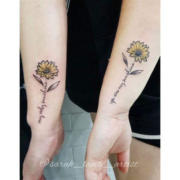 best mother and daughter matching tattoos