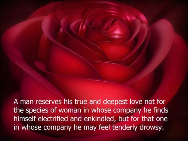 deep love quote with rose image