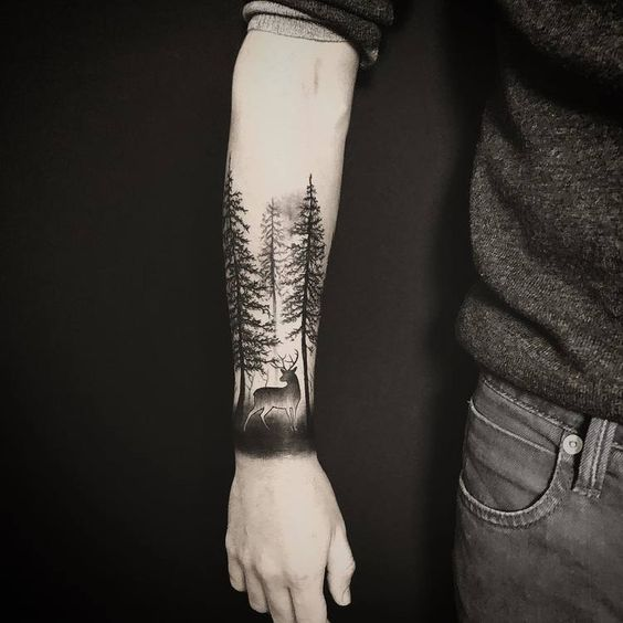 d717a53e80b4a 25+ Evergreen Tree Tattoo Designs and Ideas | EntertainmentMesh
