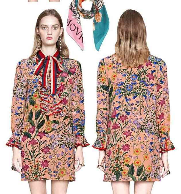 spring floral mini dress