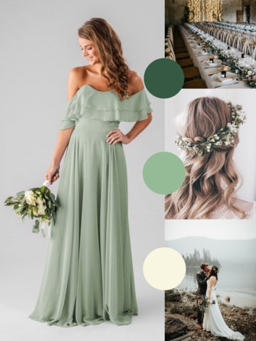 sage green brides wedding dress color ideas for 2019
