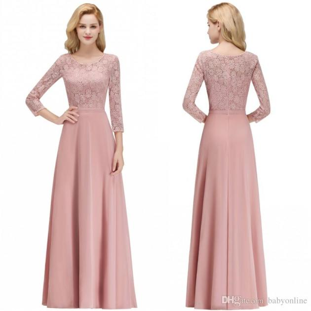 lace and chiffon combo dress ideas for wedding guest