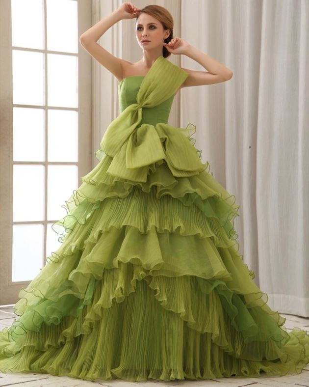 lime green wedding dress ideas for brides