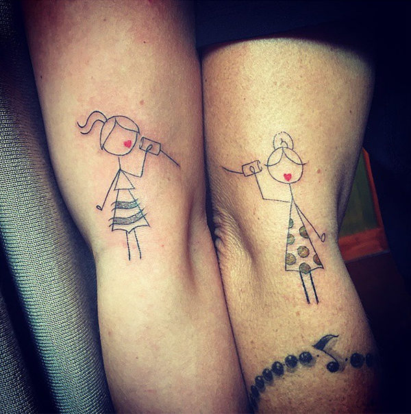mother and daughter tattoo design ideas