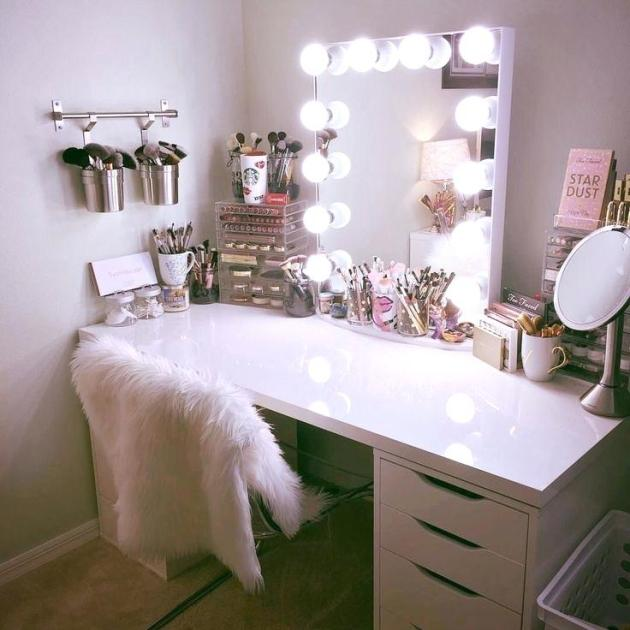 teen girls room vanity mirror ideas