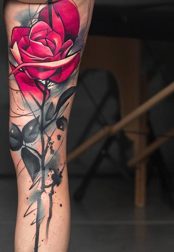 rose flower tattoo ideas for women
