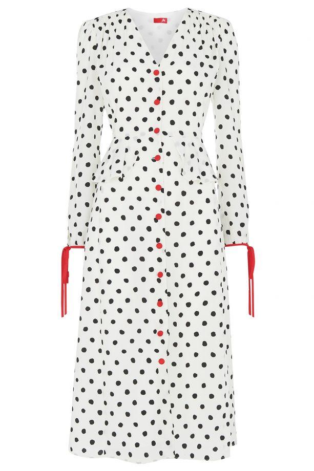 polka dot wedding guest dress ideas for 2019