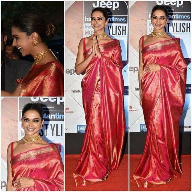 Deepika Padukone in Silk Saree