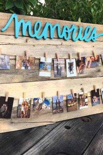 graduation memories photos display for summer garden party decorations