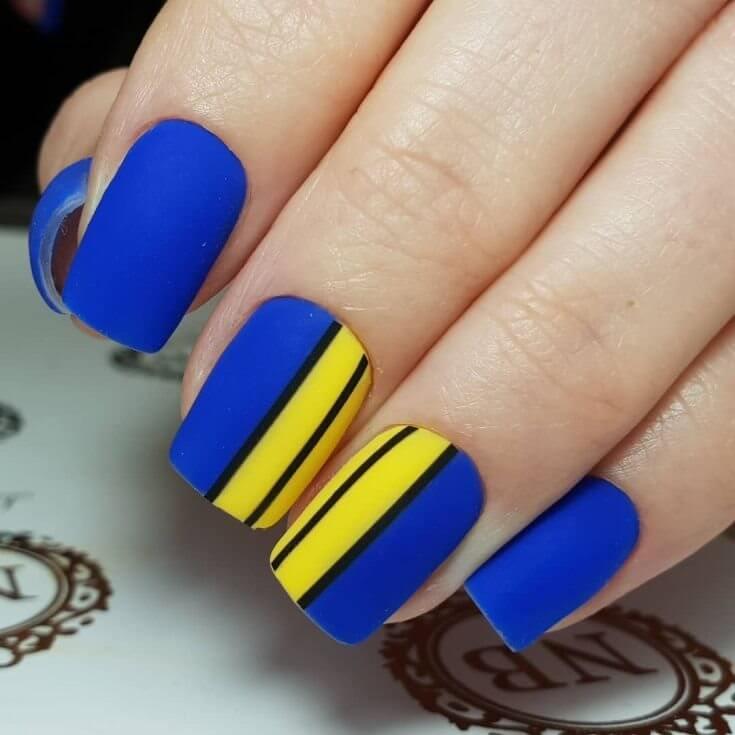60+ Cute Pretty Yellow Nail Designs for 2019
