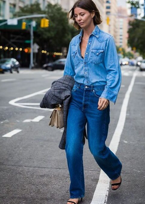 denim jeans shirt pant outfit ideas for school