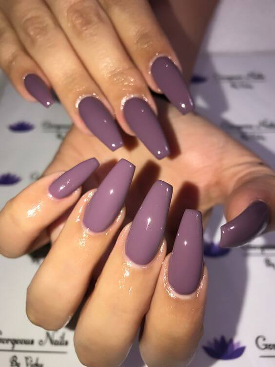purple acrylic nail shapes coffin