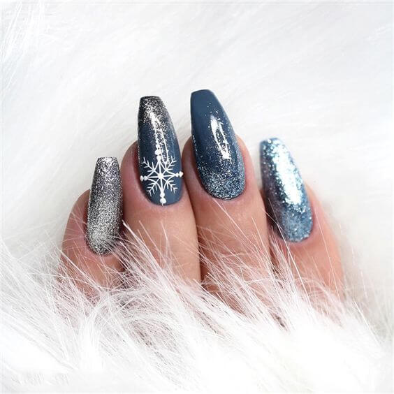 winter acrylic nail designs