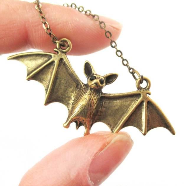 bat pendant necklace jewelry