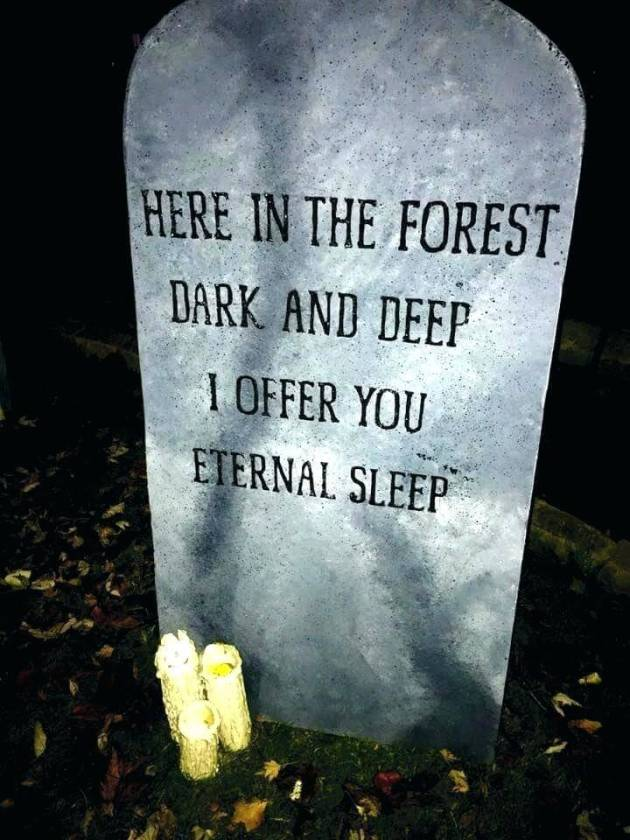 creepy funny tombstone ideas for halloween