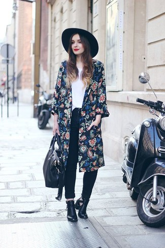 floral kimono jeans outfit ideas