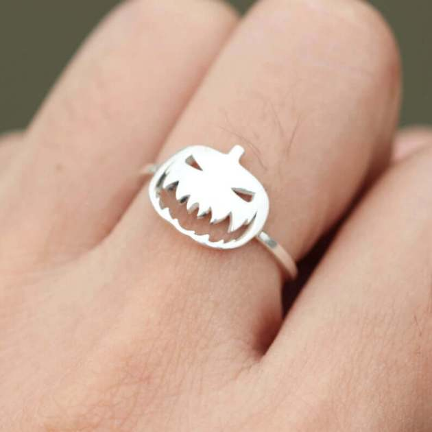 halloween jack o' lantern ring jewelry