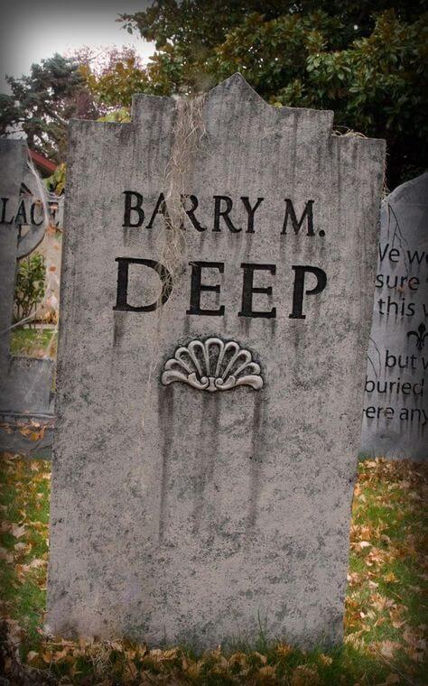 halloween tombstone ideas