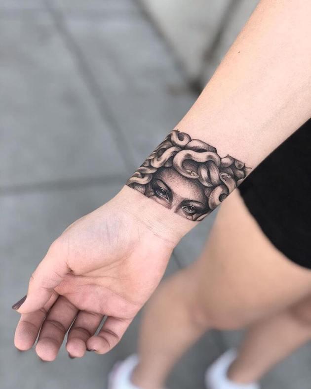medusa wrist band tattoo