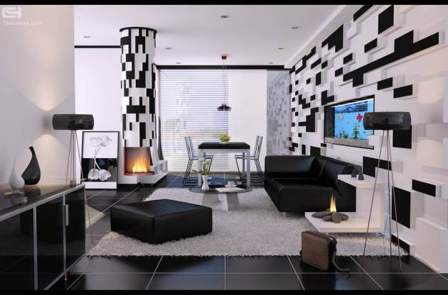 alenquer black and white combination room
