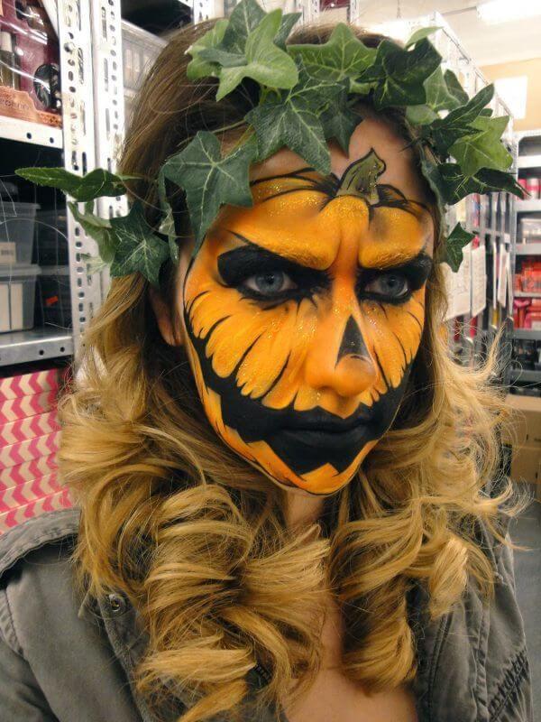 halloween pumpkin face paint ideas
