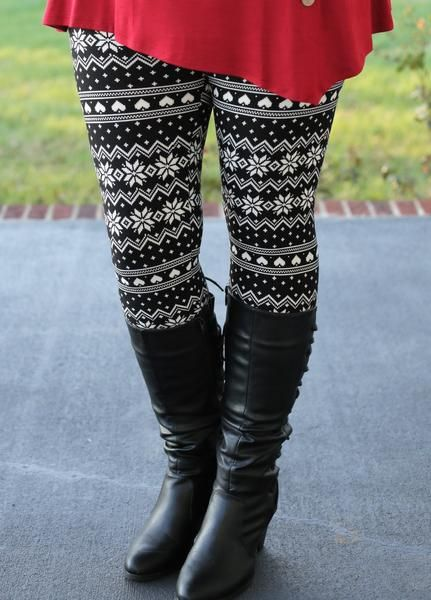 aisle leggings girl outfit ideas for christmas