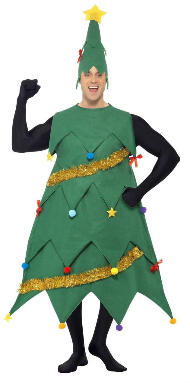 funny christmas tree costume ideas for men