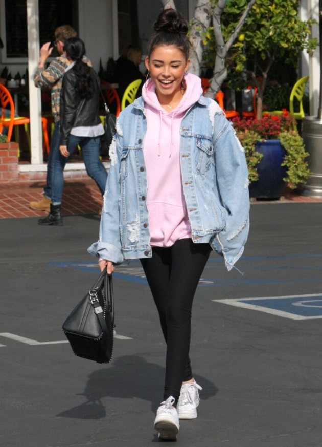 oversized denim jacket outfit ideas for winter