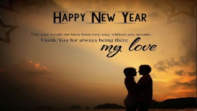 happy new year message for my love