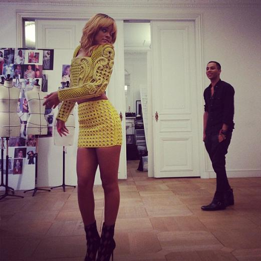 Rihanna Balmain Office Paris 3