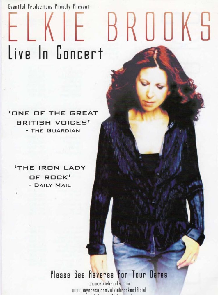 Elkie Brooks played Newport's Riverfront Theatre in October, 2008.