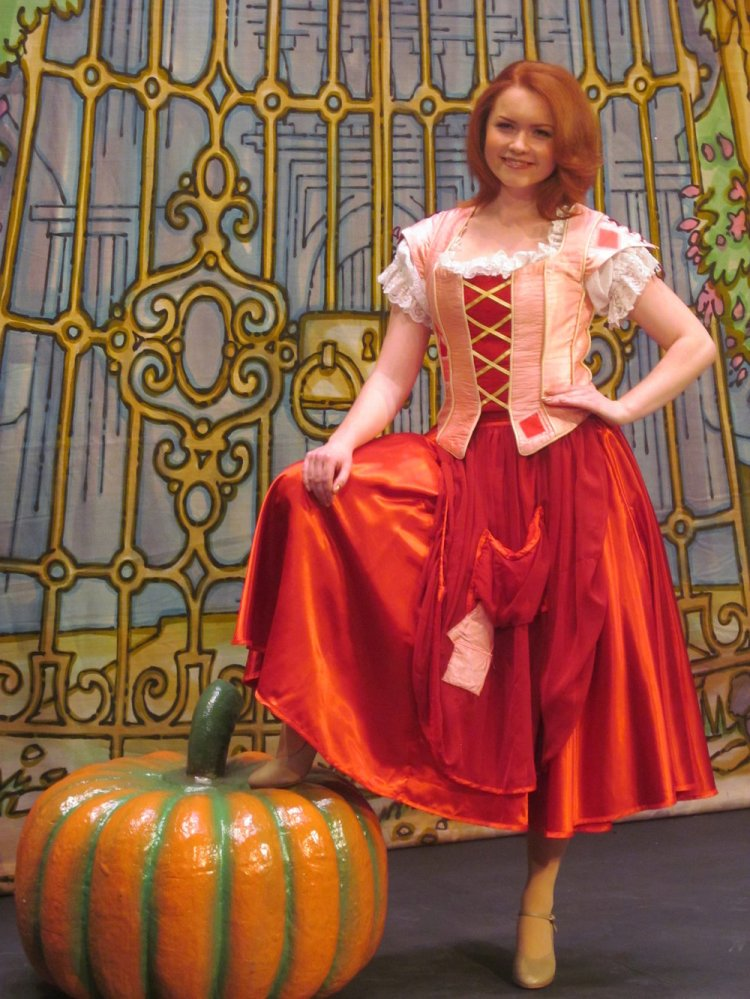 Holly Bluett takes the lead in Cardiff New Theatre's 2014-15 pantomime, Cinderella. Photographs: Andy Howells