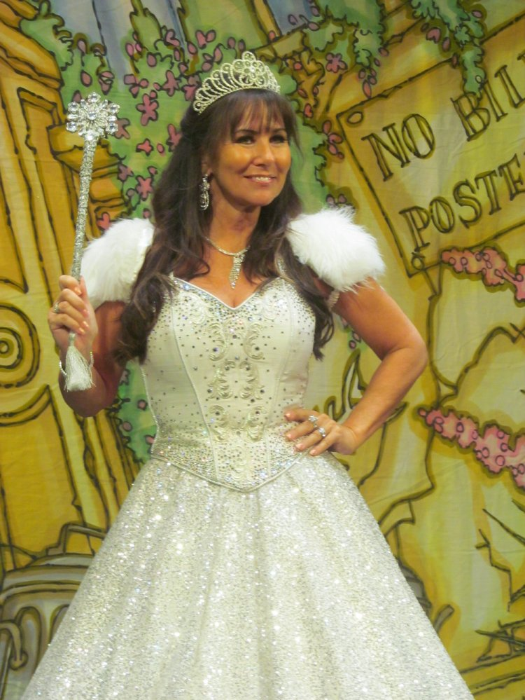 Linda Lusardi makes wishes come true as the Fairy Godmother in the New Theatre presentation of  Cinderella.  Picture: Andy Howells.