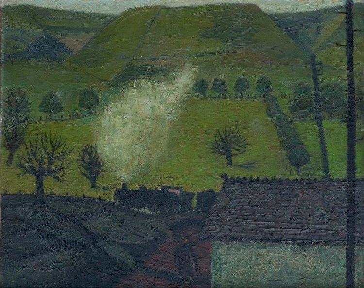 Coal Train In The Rhondda By Charles Burton