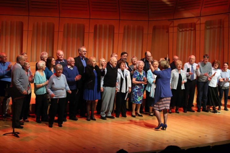 The Forget-Me-Not Chorus Will launch #MySongMyStory on Wales Millennium Centre's Glanfa Stage on September 23 Picture: Dan Green