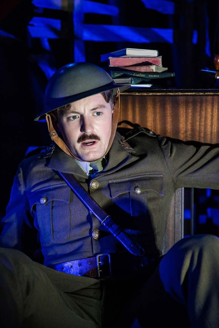 Iestyn Arwel as Wilfred Owen in Flying Bridge Theatre's presentation of Not About Heroes by Stephen MacDonald.